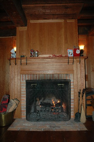 Tavern Room's Fireplace, alternate view Tavern Room Decorated for Christmas